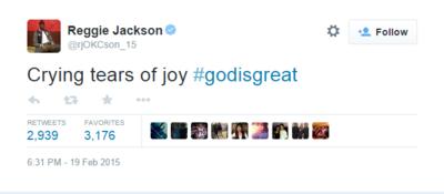 Reggie Jackson Tweet
